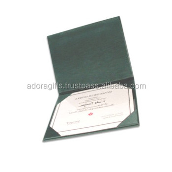 Top Sale A4 Leather Diploma Folder Certificate Holder / Leather ...