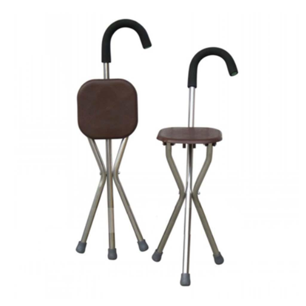 MOXIN Cane seat walking stick seat canes three-legged stool chairs for the elderly the elderly walking stick stool , a , a