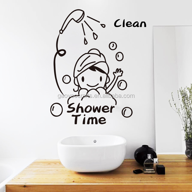 bayi waktu mandi wall sticker decal toilet stiker untuk kamar anak