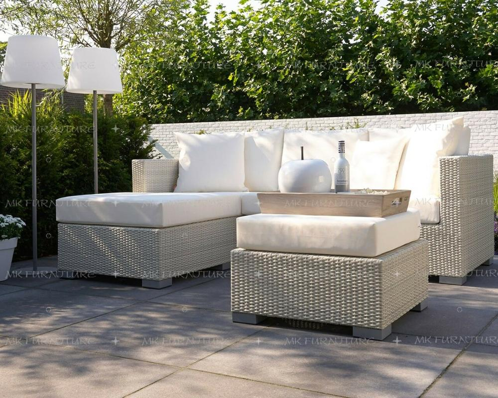 patio synthetc wicker rattan small l shape sofa set furniture garden outdoor furniture rattan living