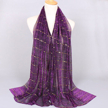 new lurex scarf shimmer hijab for muslim women glitter wrap arab women stoles with sequanins