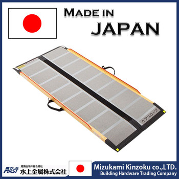 Easy to use and Lightweight Home use electric wheelchair ramp with high-performance made in Japan