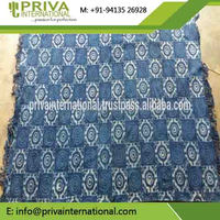 Hand-woven Blinov Blue MoroccanTrellis Flatweave Area Rug