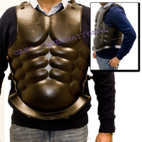FULL SIZE WEARABLE ARMOR BLACK TONE ROMAN BREAST PLATE CUIRASS