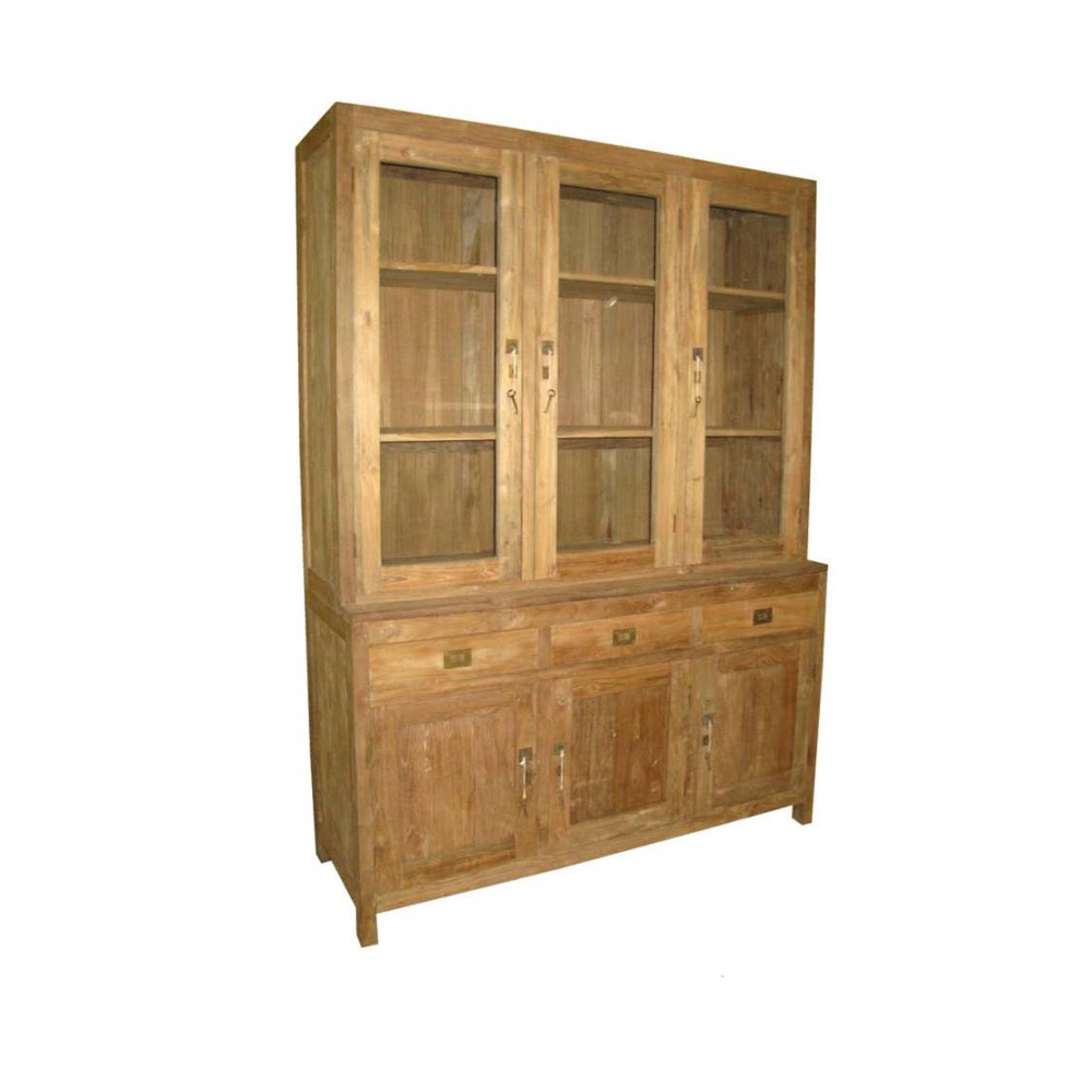 Simple Solid Wood Cabinet Showcase Design Living Room Furniture Indonesia
