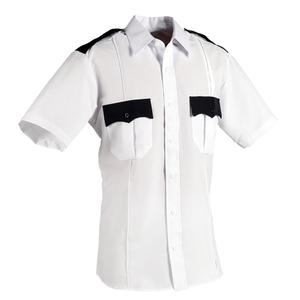 white colour polyester short sleeve shirt with Pant security uniform