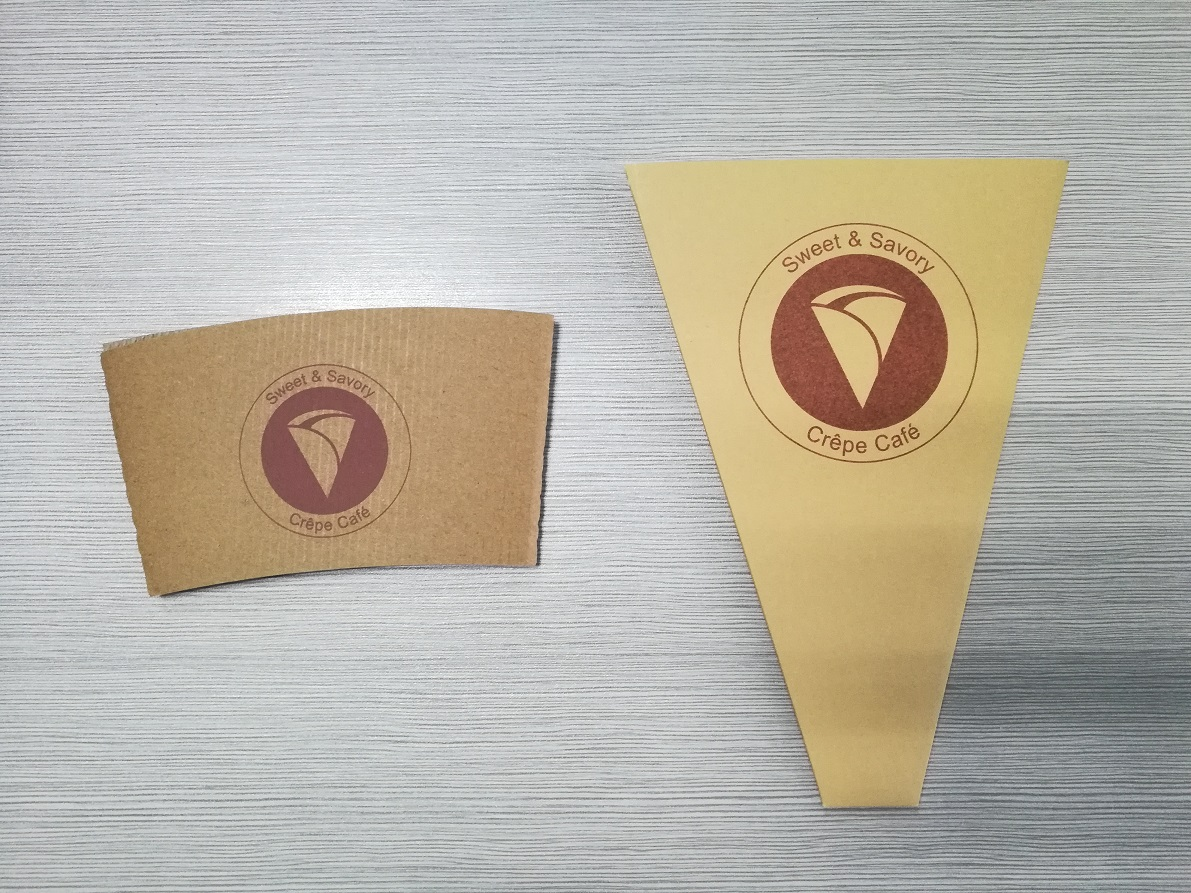 Own Size Kraft Paper Coffee Cup Sleeve Sleeves With Custom Logo