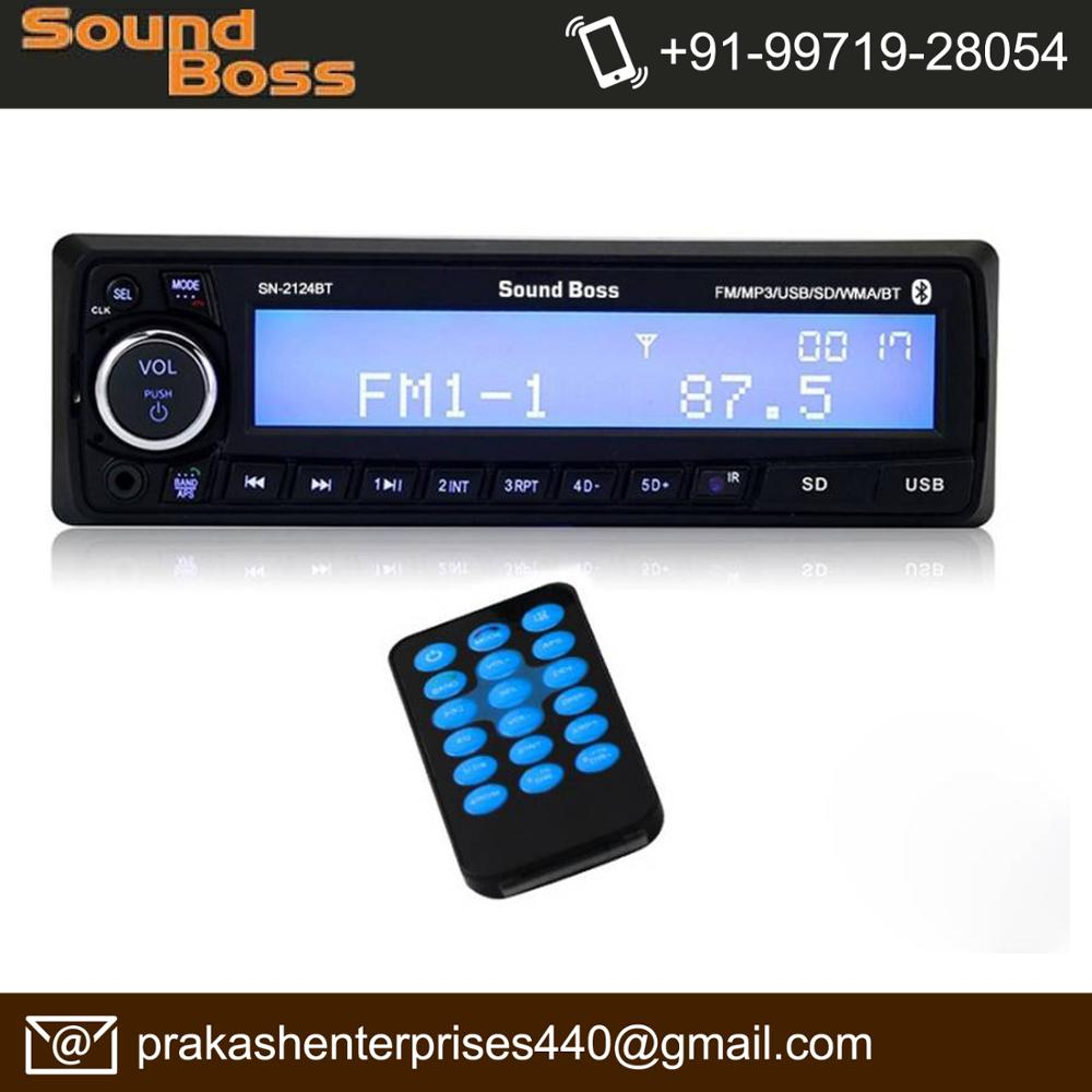 Sound Boss SB-2124BT Bluetooth Wireless With Phone Caller Id Receiver Car Media Player Car Stereo (Single Din)