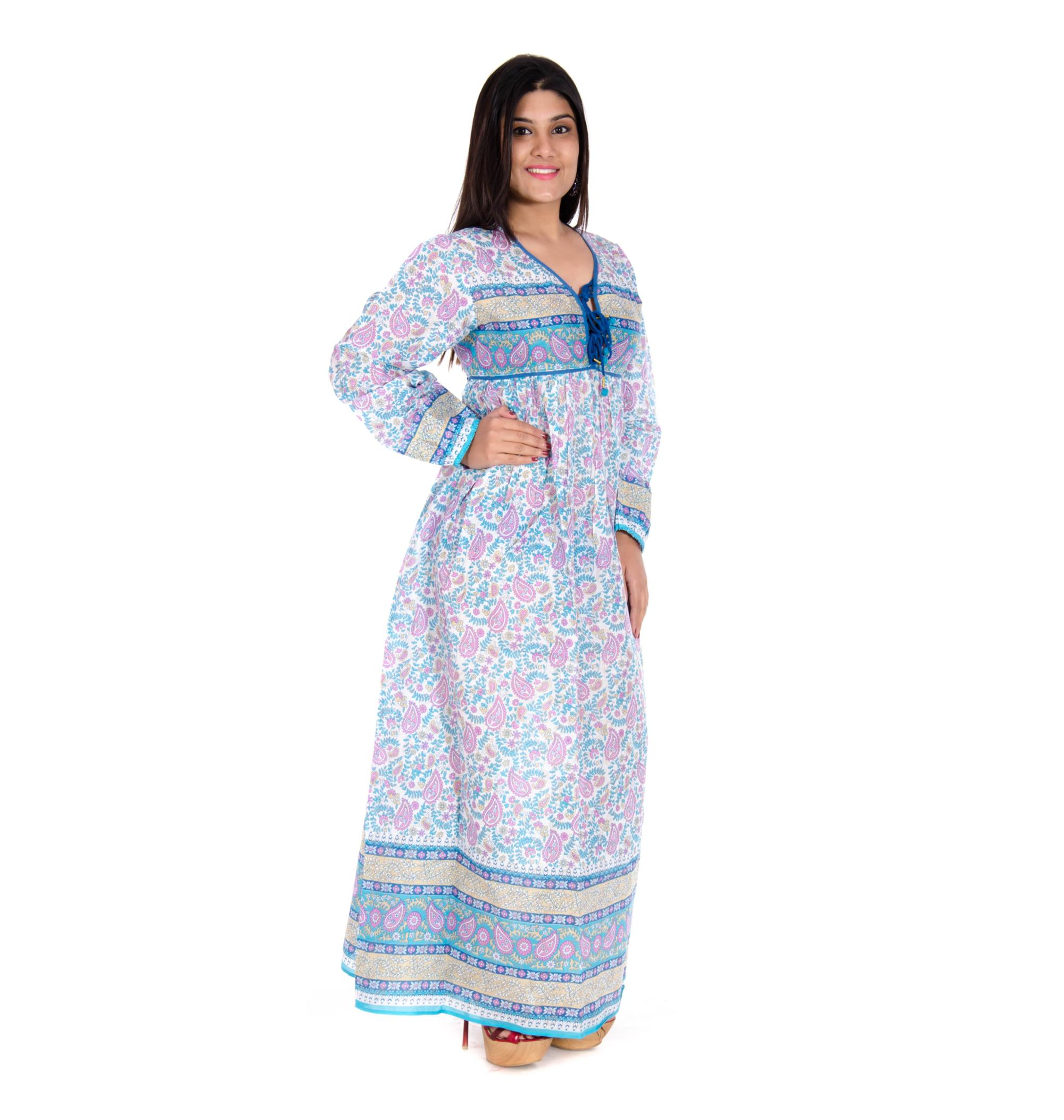 exquisite style highly coveted range of undefeated x 100% Cotton Maxi Gown With Kery Print Blue Pink Colour - Buy Cotton Kery  Print Maxi Dress,100% Cotton Maxi Dress,100% Cotton Maxi Dress Product on  ...