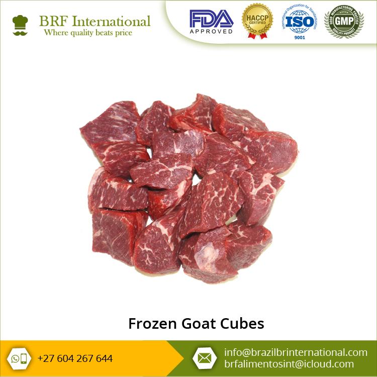 Frozen Goat Meat in Cubes