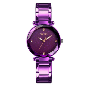 Luxury Shinny Sky Dial Jam Tangan Stainless Steel Watches Ladies Skmei Wristwatches for Women 9180