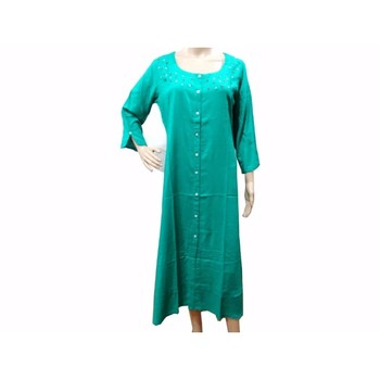 Ethnic Women Rayon Long Tunic Ladies Apparel Wholesale