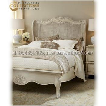 Neue Luxus Französisch Stil Bett Kopfteil Massivholz Schlafzimmer
