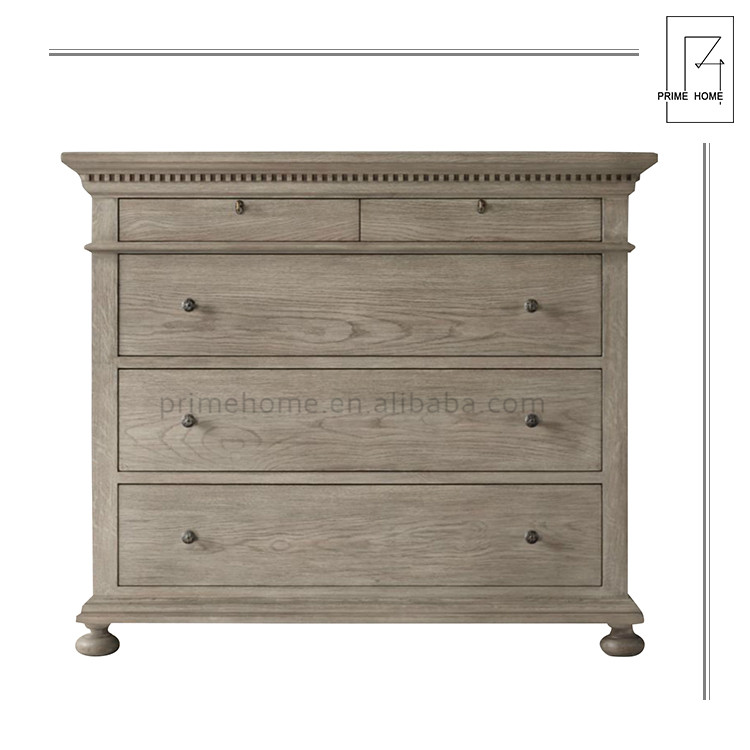 Professional Manufacture Country Style Rustic Wood Storage Drawer Cupboard Room Furniture Cabinet