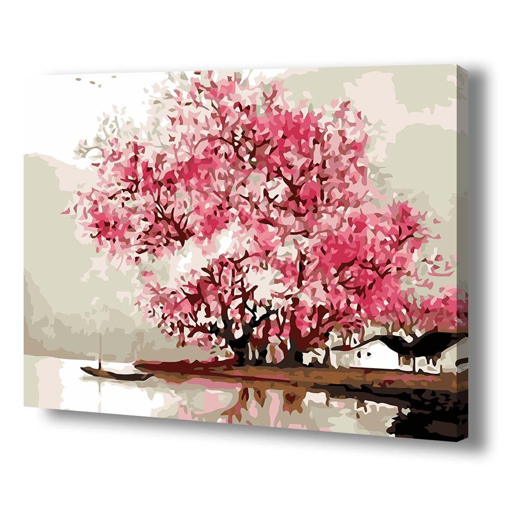 Paint By Number Kitdiy Oil Painting Drawing Cherry Path Canvas With 300in1 Electronic Project Lab Kit Mx908 Brushes Decor Decorations Gifts