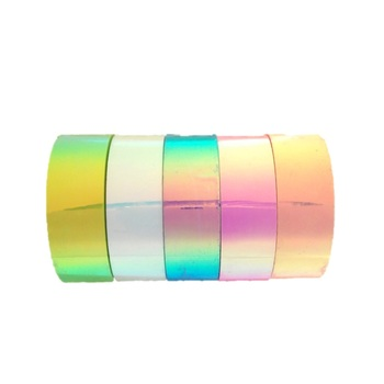 Superior Quality Highly Demanded 15mm Multipurpose Iridescent Rainbow Reflective Packing Tape