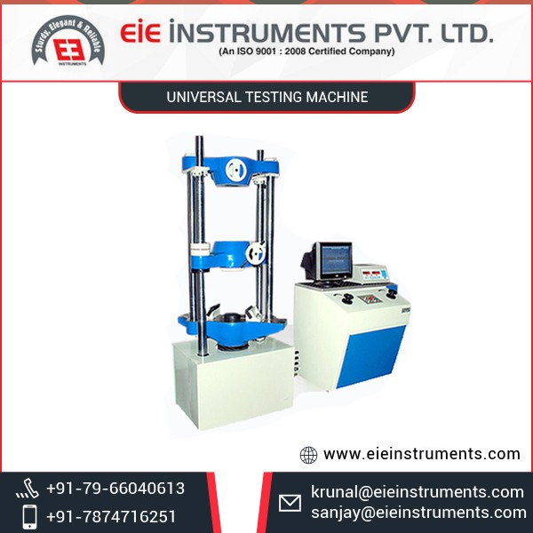 Optimum Quality User Friendly Universal Testing Machine from Reliable Seller