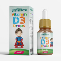 Vitamin D3 Drops Oral Liquid for Kids Children Food Supplements Herbal Vitamin D3 Supplement