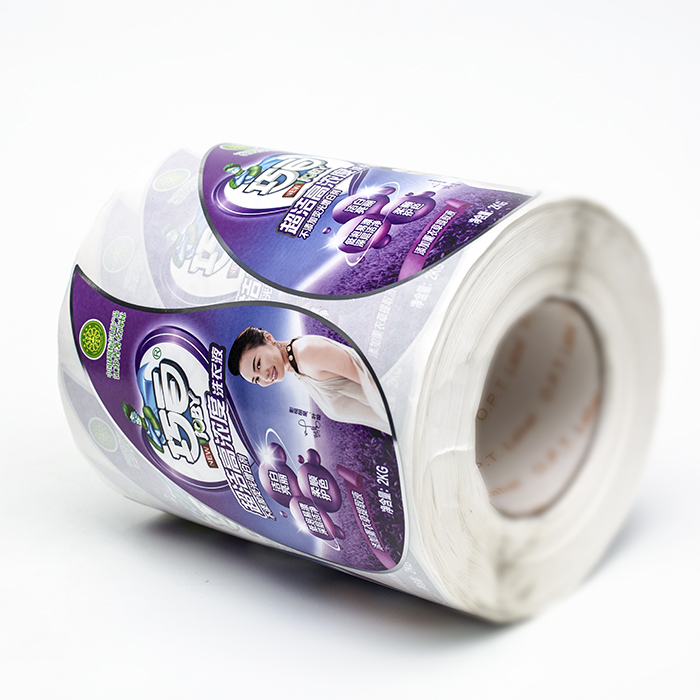 cheap custom logo printing stickers label for laundry liquid bottle packaging