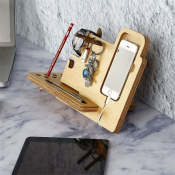 Wooden phone Organiser