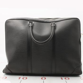 Used brand LOUIS VUITTON Porte-Documents Voyage Epi M41142 Epi Leather  black for bulk sale b2c49702d41ec