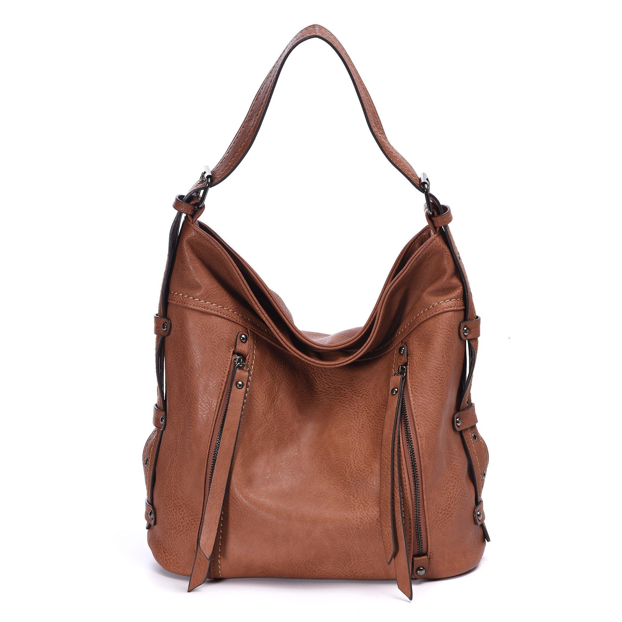 eb42bba061d Get Quotations · Digruel Hobo Bags For Women Large Hobo Handbags Designer  Leather Handbag Retro Crossbody Tote Top Handle