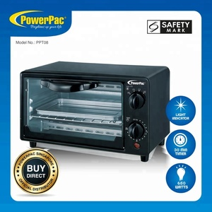 PowerPac Electric Oven with Heat Selector 8L (PPT08) Stocks Appliances (Available Stocks)