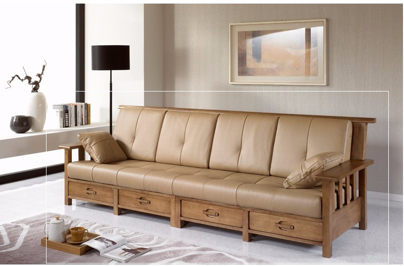 Solid Rubber Wood Sofa Frame
