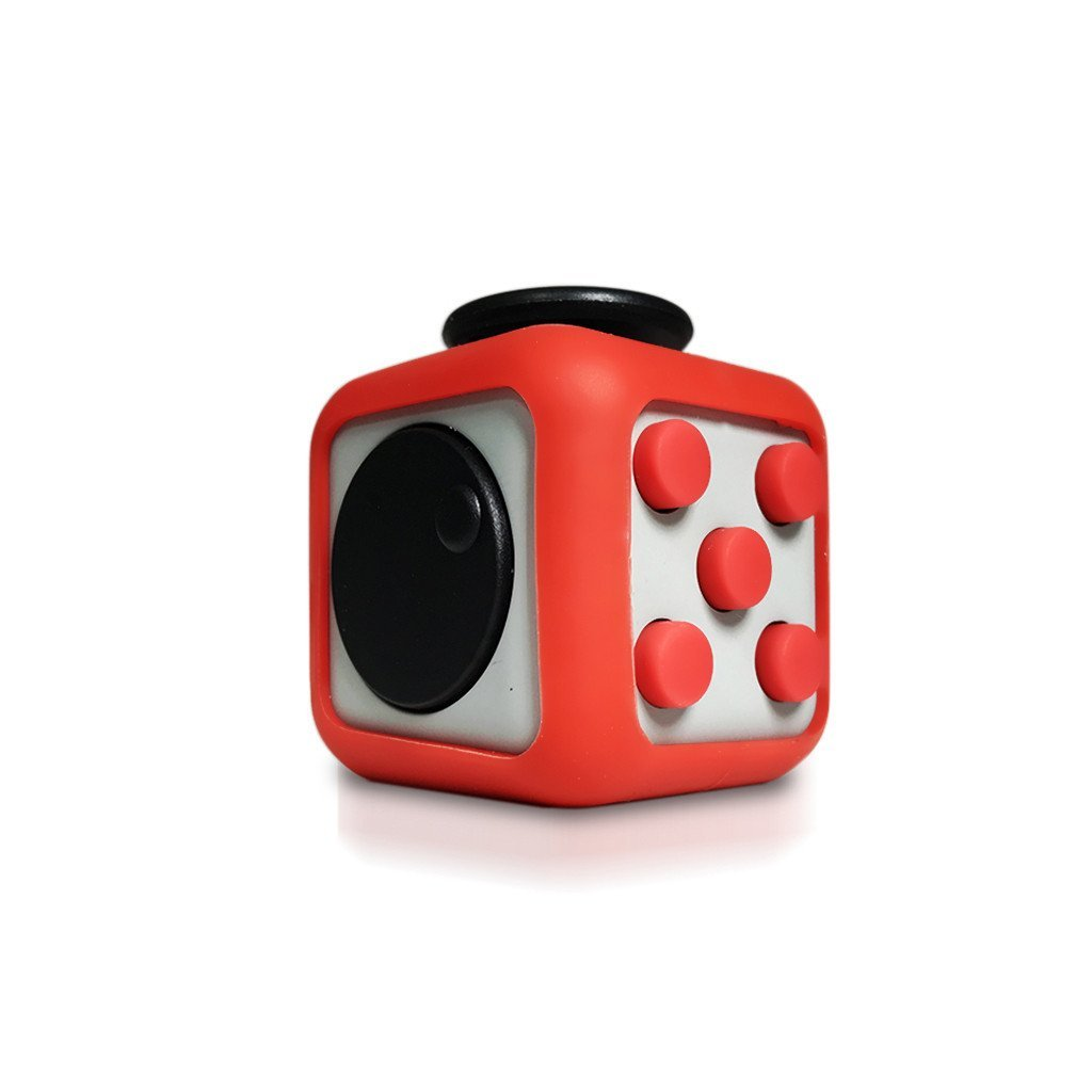 PopSmart Fidget Cube Anti-Stress/stress cube Anti-anxiety and Depression Ball Prime Quality Toy, anti stress cube fidget [Fidget Cube Prime] anti stress cube fidget, School, Class, Grey-red