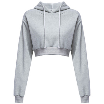 141e5170f001d Customized Women Crop Top Hoodie Sweatshirt Casual Pullover - Buy ...