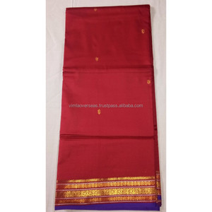 Women's Designer Wedding Wear Red Border Handmade Kanjeevaram Banarasi Silk Bridal Saree Party Wear Dress