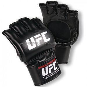 Wholesale Muay Thai Sand Bag UFC MMA Half finger Gloves Boxing Gloves real cowhide leather mma gloves DG-2007