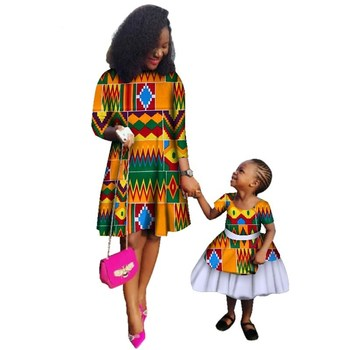 5b1d54b2cb New Mom and Daughter Print Java Skirts Dashiki African Clothes for Women  Children Bazin Riche Traditional