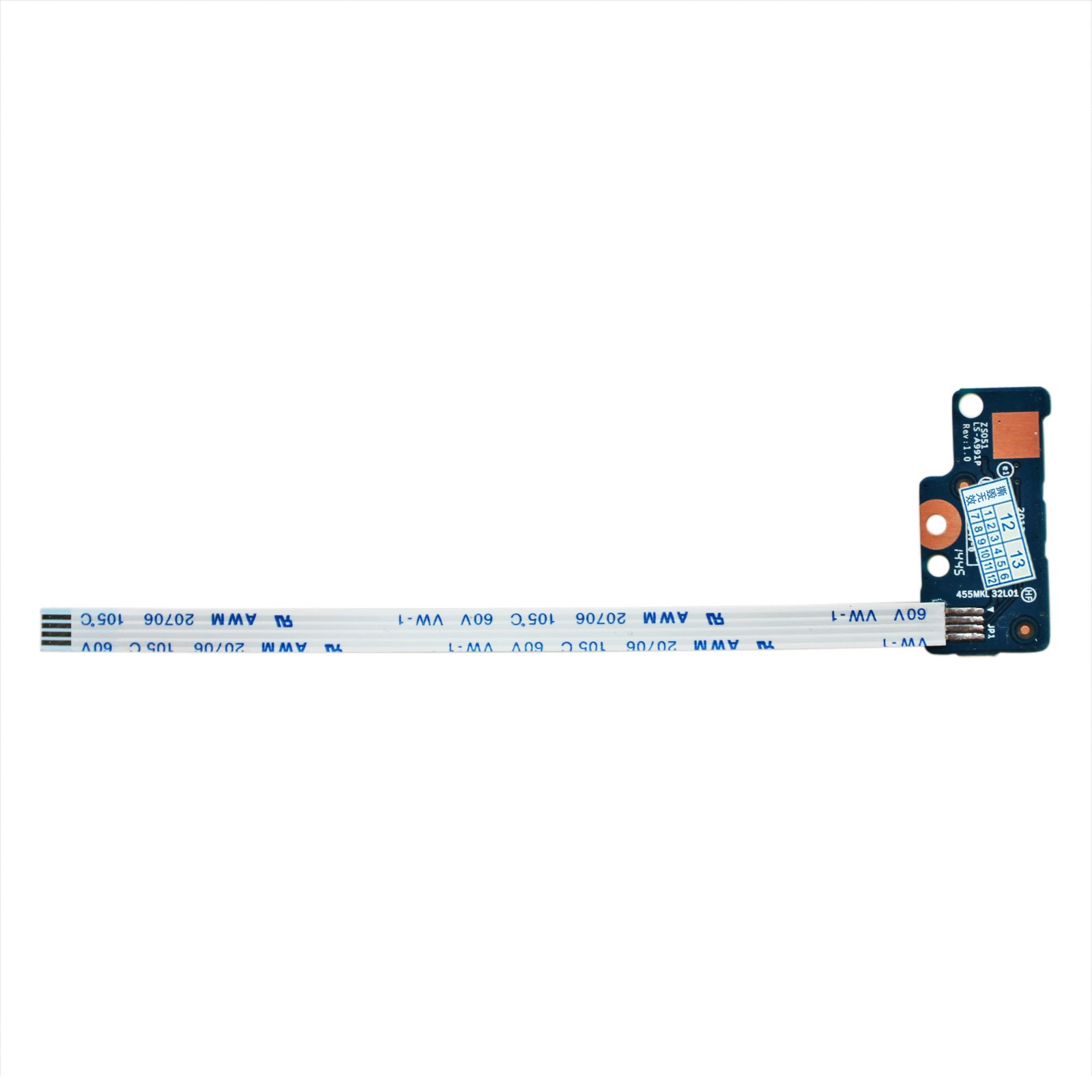 GinTai Power Button Board w/ Cable Replacement For HP 15-r138ca 15-r174ca 15-r011dx 15-r029wm 15-r063nr 15-r181nr 15-r052nr 15-R030WM 15-g071nr 15-g072nr 15-G 15-R 749650-001 LS-A991P 250 G3 255 G3