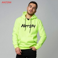 Blank hoodies sweatshirts zipper / high quality custom color block hoodie Made by Antom Enterprises