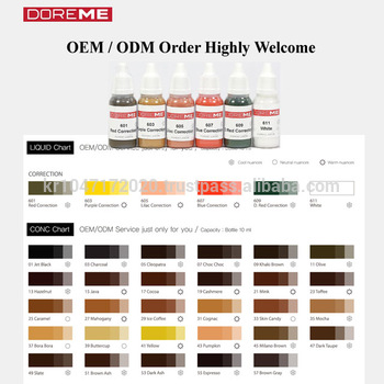 Tatto Ink Oem Odm Micro Semi Permanent Makeup Pigment Of