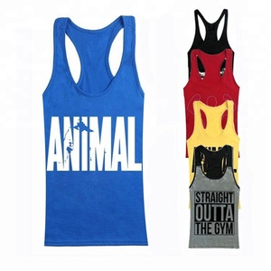 Design Your Own Cotton Plain Bodybuilding Custom Fitness Stringer Gym Tank Top For Men