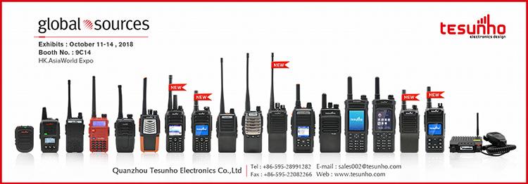 Dois modos de rádio de dois modos GSM WCDMA SIM Card rádio IP e VHF UHF walkie talkie