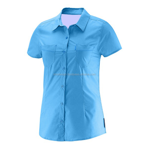 Custom Cheap Work Wear Shirt Uniform Short Sleeve Ladies Shirt Office uniform
