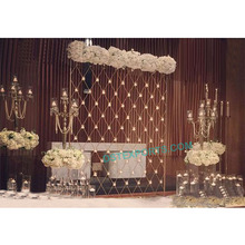 Wedding Stage Candle Wall Decoration England, Wedding Candle fitted Backdrop, Reception Stage Backdrop Decoration