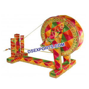Wedding Decorated Charkha/Punjabi Wedding Decoration Accessories/Latest  Wedding Phulkari Decoration
