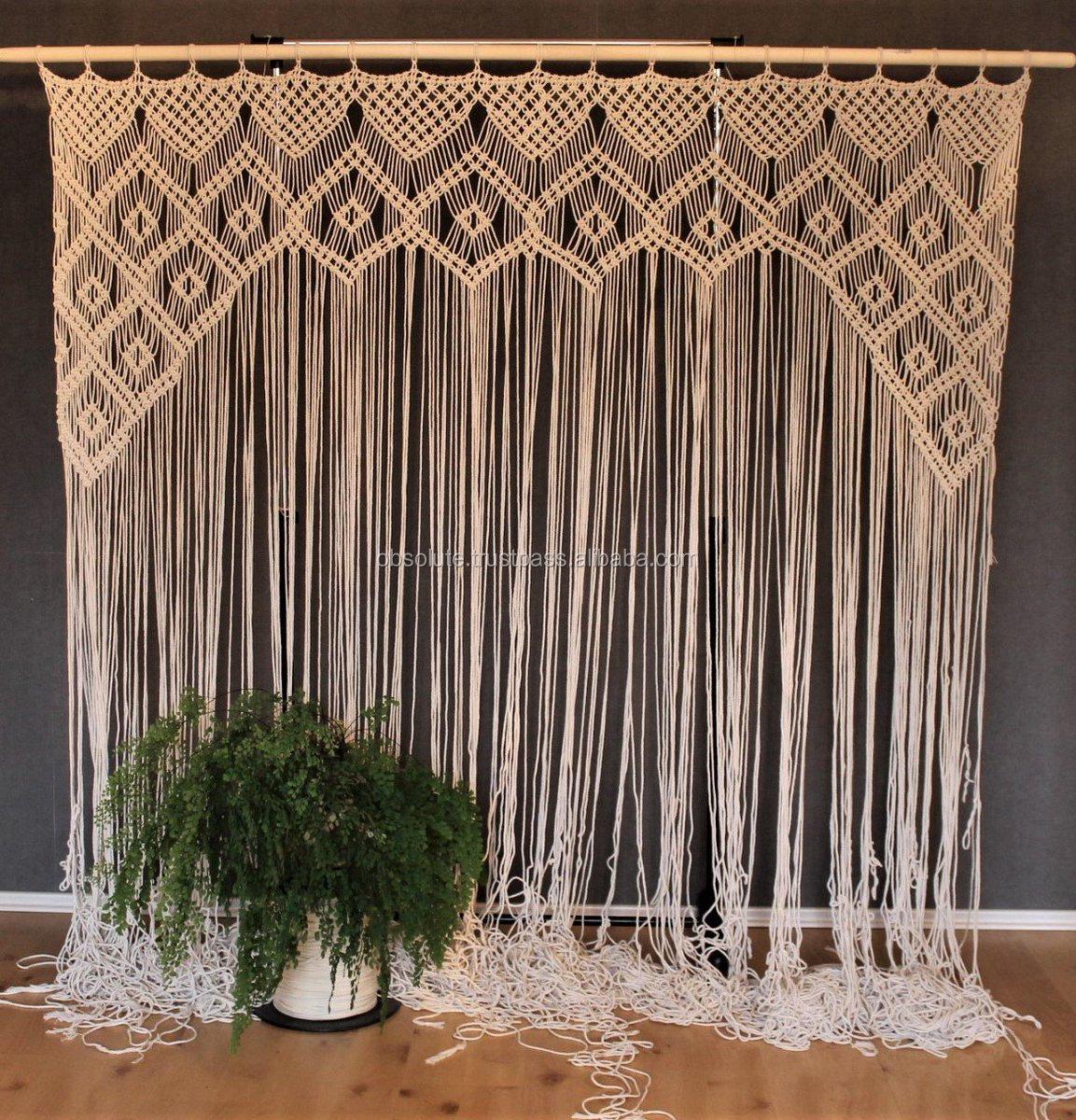 Macrame Handmade Curtain Door Curtain Wedding Backdrop