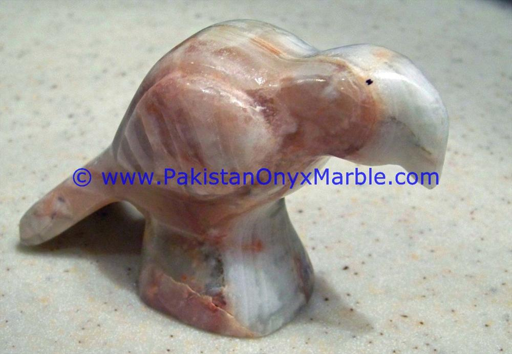 MANUFACTURER AND EXPORTERS ONYX CARVED ONYX PARROT STATUE