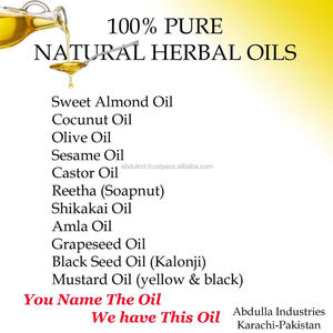 100% PURE NATURAL HERBAL OILS - You name the Oil !! We have this Oil -- for  Body Massage Oils / Hair Care Oils /