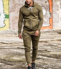 2017 hot new products slim fit mens top custom fleece tracksuit plain