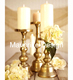 Gold Candle Holder for Wedding Table