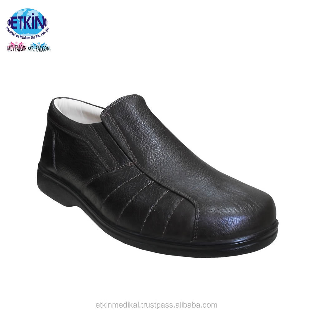 Shoes genuine With Comfort Diabetic Footwear Insole Leather Men Popular Diabetic TqEBOa