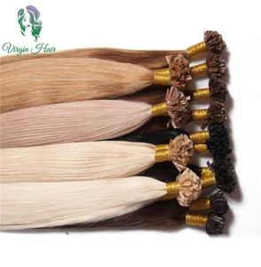 High Quality Hair Extention U Tip Human Hair Extention Sale 100% Keratin Pre Bonded Peruvian Human Hair Extension
