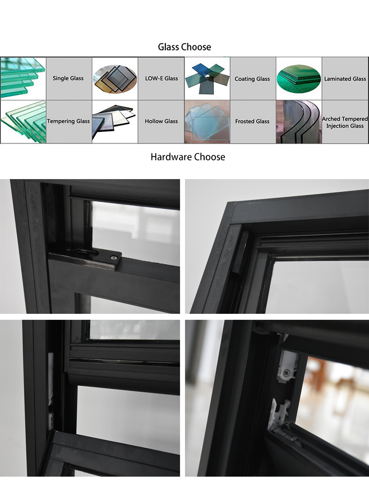 Double hung vertical sliding glass window