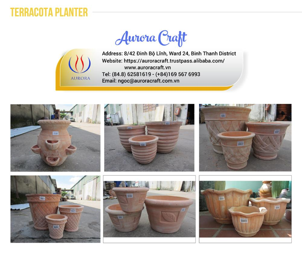 Vietnam Atlantic Planter for Outdoor - Square Planters Home & Garden